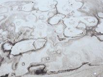 Sedimentair natuurlijk beeld in geel zand royalty-vrije stock afbeeldingen