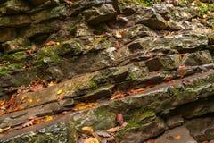 Sedimental岩石视图 库存图片