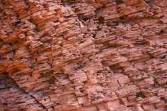 Sedimentary canyon wall royalty free stock images