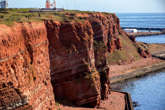 Sedimentary rock cliffs from Helgoland royalty free stock image