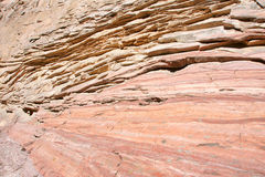 Sedimentary rock. The close-up of red sedimentary rock Stock Photos