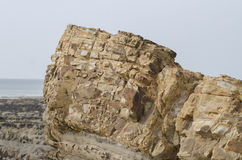 Sedimentary rock formation Royalty Free Stock Image