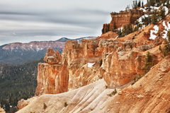 Sedimentary rock formations in bryce canyon park Stock Photography