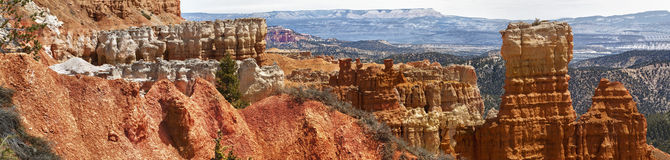Sedimentary rock formations in bryce canyon park Stock Photo