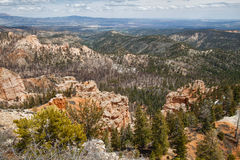 Sedimentary rock formations in bryce canyon park Stock Image