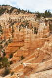 Sedimentary rock formations in bryce canyon park Royalty Free Stock Images