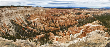 Sedimentary rock formations in bryce canyon park Royalty Free Stock Image