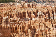 Sedimentary rock formations in bryce canyon park Royalty Free Stock Photography