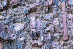 Sedimentary rock layers Royalty Free Stock Photo