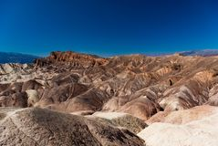 Sedimentary rock formations in Death Valley National Park royalty free stock photos