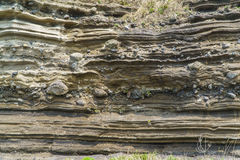Sedimentary Rock (Pyroclastic deposit) Royalty Free Stock Photo
