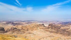 Sedimentary rocks around Wadi Araba area Royalty Free Stock Photo