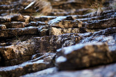Sedimentary rocks background Royalty Free Stock Photography