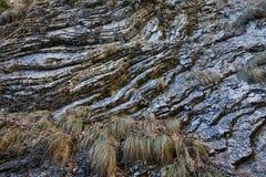 Sedimentary rocks background Stock Photo