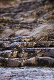 Sedimentary rocks background Royalty Free Stock Photo