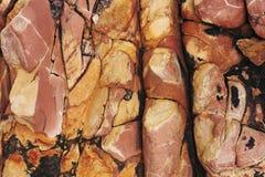 sedimentary textur f?r r?d rock r?tt lantligt stenar textur Bakgrund Natur arkivfoton