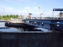 Sedimentation ponds Stock Images