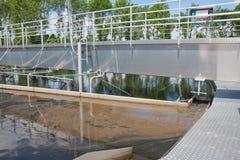 Sedimentation tank in sewage treatment plant. Sedimentation tank in a sewage treatment plant Royalty Free Stock Image