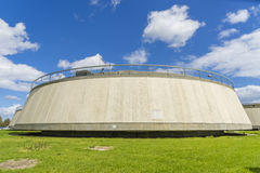 Sedimentation tank in a sewage treatment plant. During daytime Royalty Free Stock Photos