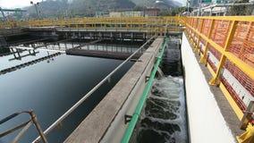 Sedimentation tanks in a sewage treatment plant