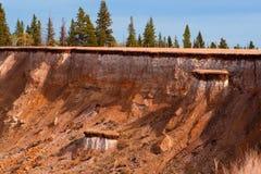 Sedimente und Schichten Lizenzfreies Stockfoto