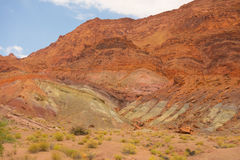 Sedimentgestein, wie an der Schluchtschlucht, Arizona gesehen lizenzfreie stockfotografie