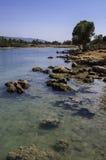 Sedir Island, Gökova, Turkey. Sedir Island, also known as Cleopatra Island, is a small island in the Gulf of Gökova of southwestern Aegean Sea off the Royalty Free Stock Image