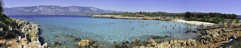 Sedir Island, Gökova, Turkey. Sedir Island, also known as Cleopatra Island, is a small island in the Gulf of Gökova of southwestern Aegean Sea off the Stock Images