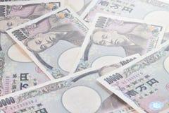 Sedlar av den japanska yen Arkivbilder