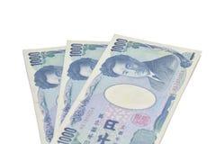 Sedlar av den japanska yen Fotografering för Bildbyråer