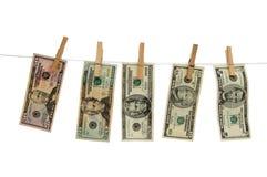 Sedlar av dollaren Arkivbilder