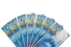 Sedlar av 100 schweizisk franc Royaltyfri Bild