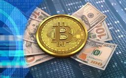 sedlar för bitcoin 3d Royaltyfri Foto