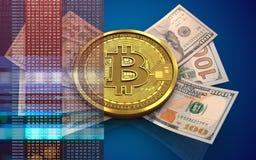 sedlar för bitcoin 3d Arkivfoto