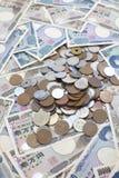 Sedlar för japansk yen Arkivfoton