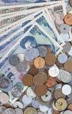 Sedlar för japansk yen för närbild Arkivfoto