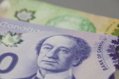 Sedlar för kanadensare 10 och 20 dollar Royaltyfri Bild