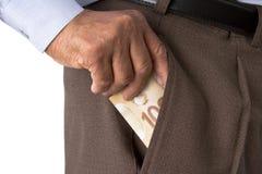 Sedlar för kanadensisk dollar i vit bakgrund arkivbilder