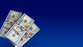 sedlar för pengar 3d Arkivfoto