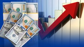 sedlar för pengar 3d Royaltyfri Fotografi