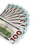 100 sedlar för US-dollar Arkivfoto