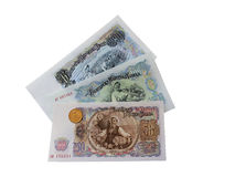 sedlar och mynt av Bulgarien i 1951 Royaltyfria Bilder