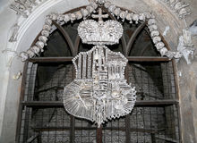 Sedlec Ossuary is a small Roman Catholic chapel, Kutna Hora in the Czech Republic Royalty Free Stock Photos
