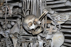 Sedlec Ossuary is a small Roman Catholic chapel, Kutna Hora in the Czech Republic Stock Photography
