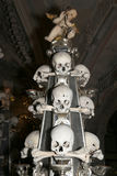 Sedlec Ossuary is a small Roman Catholic chapel, located beneath the Cemetery Church of All Saints in Sedlec, a suburb of Kutna Ho Stock Images