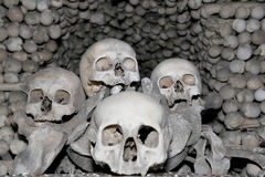 Sedlec Ossuary is a small Roman Catholic chapel, located beneath the Cemetery Church of All Saints in Sedlec, a suburb of Kutna Ho Royalty Free Stock Image