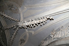 Sedlec Ossuary is a small Roman Catholic chapel, located beneath the Cemetery Church of All Saints in Sedlec, a suburb of Kutna Ho Royalty Free Stock Photography