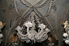 Sedlec Ossuary is a small Roman Catholic chapel, located beneath the Cemetery Church of All Saints in Sedlec, a suburb of Kutna Ho Royalty Free Stock Photo