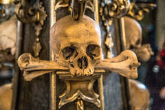 The Sedlec Ossuary. Is a small Roman Catholic chapel, located beneath the Cemetery Church of All Saints in Sedlec, a suburb of Kutná Hora in the Czech royalty free stock photography