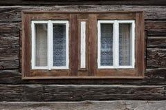 Sedliacka Dubova village in Orva region. Traditional log cabin in Orava region, Slovakia royalty free stock image
